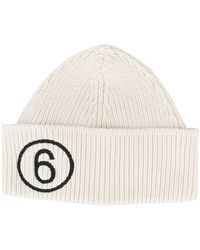 MM6 by Maison Martin Margiela Embroidered Number Beanie - Multicolor