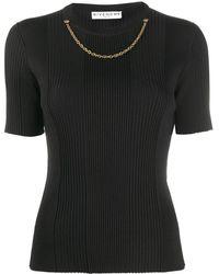 Givenchy チェーントリム ニットトップ - ブラック