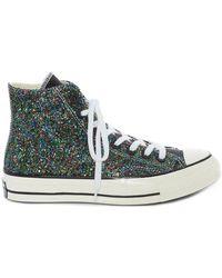 Converse 'Chuck Taylor' Sneakers mit Glitter - Blau