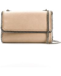 a280eb6ac8 Lyst - Stella McCartney Falabella Faux-Leather Cross-Body Bag in Natural