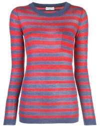 Sonia Rykiel Striped Top - Red
