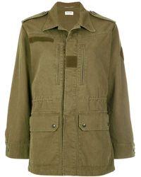 Saint Laurent Military Parka Jacket - Green