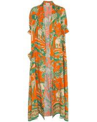 Chufy Desta Linen Robe - Orange