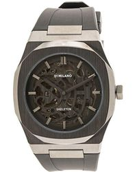 D1 Milano Horloge Met Skelet - Zwart