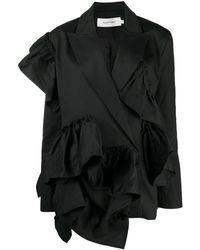 Marques'Almeida ラッフルトリム ジャケット - ブラック