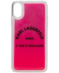 Karl Lagerfeld Rue St Guillaume Glow-in-the-dark Iphone X/xs - Pink