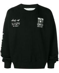 Off-White c/o Virgil Abloh Mona Lisa Print Sweatshirt - Black