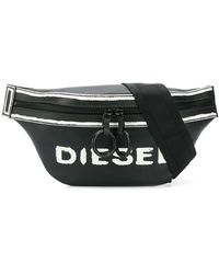 DIESEL - Logo Print Belt Bag - Lyst
