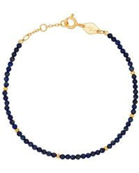 Anni Lu 18k Gold-plated Alaia Rainbow Beaded Pearl Bracelet - Blue