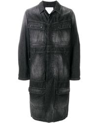 White Mountaineering - Single-breasted Long Denim Coat - Lyst