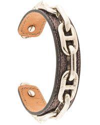 Hermès H チェーン ロゴ ブレスレット - ブラウン