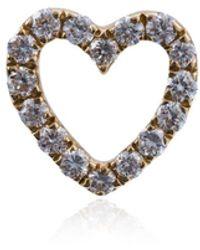 Loquet London Diamond Heart Charm - Metallic