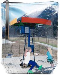 Plan C Carousel Print Clutch - Blue