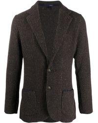 Lardini シングルジャケット - ブラウン