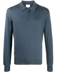 Brioni - Fine Knit Polo Shirt - Lyst