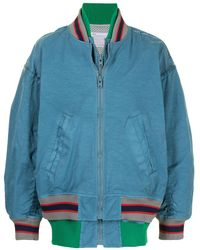 Kolor ストライプ ボンバージャケット - ブルー