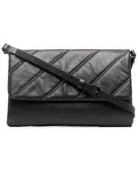 Fabiana Filippi Quilted Leather Clutch Bag - Black