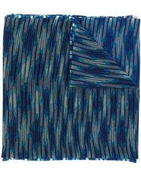 Missoni Écharpe rayée - Bleu