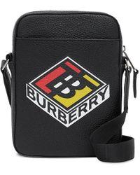 Burberry Bandolera con logo gráfico - Negro