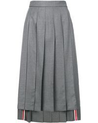 Thom Browne Pleated Skirt - Gray