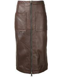 Manning Cartell - Zipped Midi Skirt - Lyst