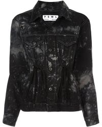 PROENZA SCHOULER WHITE LABEL Pswl Silverlake Denim Drawstring Jacket - Black