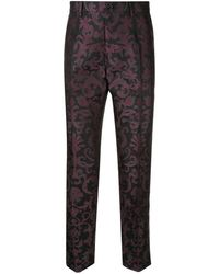 Dolce & Gabbana Tailored jacquard trousers - Noir