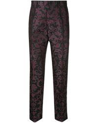 Dolce & Gabbana Klassische Jacquard-Hose - Schwarz
