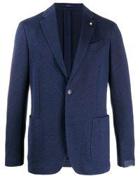 Lardini Blazer droit classique - Bleu
