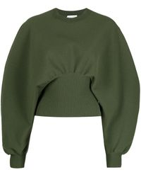 Bottega Veneta Balloon-sleeve Sweatshirt - Green