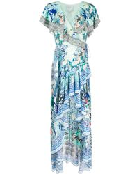 Camilla Maxi-jurk - Blauw