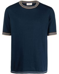 Altea ストライプエッジ Tシャツ - ブルー