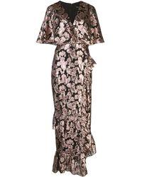 Saloni - メタリック ブロケードドレス - Lyst