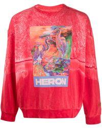 Heron Preston Sweat Heron à logo imprimé - Rose