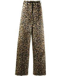 Tom Ford Брюки Широкого Кроя С Леопардовым Принтом - Многоцветный