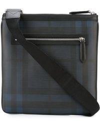 cbd12359247b Burberry Tag Print London Check Crossbody Bag in Gray for Men - Lyst