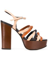 Marc Jacobs Strappy Platform Sandals - Brown