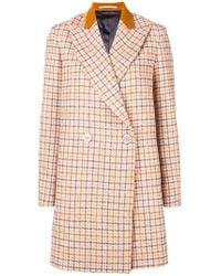Golden Goose Deluxe Brand - Double Breasted Tweed Coat - Lyst