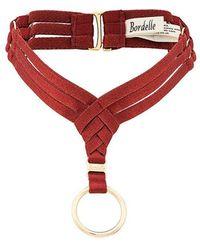 Bordelle Multi-strap Choker - Red