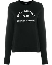 Karl Lagerfeld Address Logo パーカー - ブラック