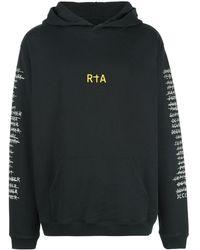 RTA Sweatshirt mit Logo-Print - Schwarz