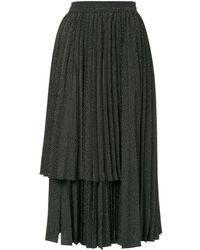 Dalood レイヤード プリーツスカート - マルチカラー