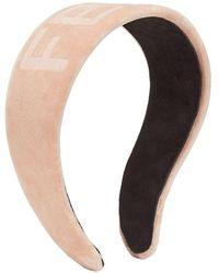 Fendi Ободок С Логотипом - Розовый