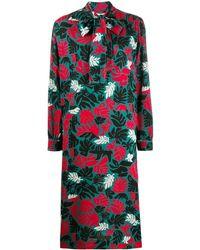 Marni - Robe imprimée à col lavallière - Lyst