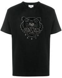 KENZO Футболка С Вышивкой Tiger - Черный