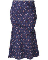 Teija - Floral Print Ruched Skirt - Lyst