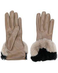 Gala Handschoenen Met Contrasterend Imitatiebont - Grijs