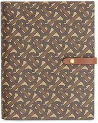 Burberry Notebook Hoes Met Monogramprint - Bruin