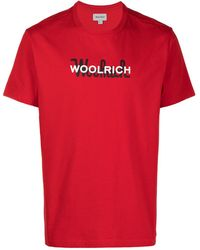 Woolrich ロゴ Tシャツ - レッド