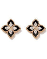 Roberto Coin 18kt 'Princess Flower' Rotgoldohrringe mit Diamanten - Mehrfarbig
